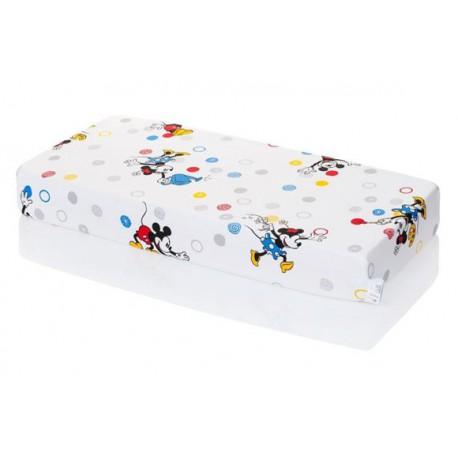 Hevea posteľná plachta Disney Mickey and Minnie 120/60.