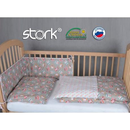 Stork Posteľná bielizeň - návliečky Sovička