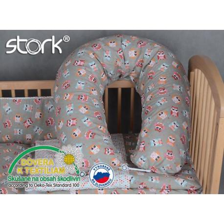 Stork Poťah na vankúš na kojenie Sovička