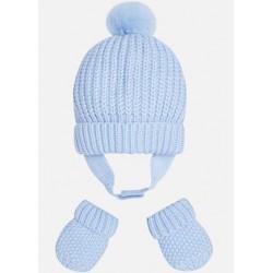 MAYORAL Set čiapka+ rukavice Modrý