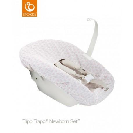 STOKKE Tripp Trapp set textílií pink pre newborn set ku stoličke