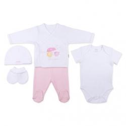KITIKATE Novorodenecký 5-dielný set Dreams, Ružový
