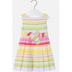 MAYORAL Šaty farebné pásikáve Amarillo