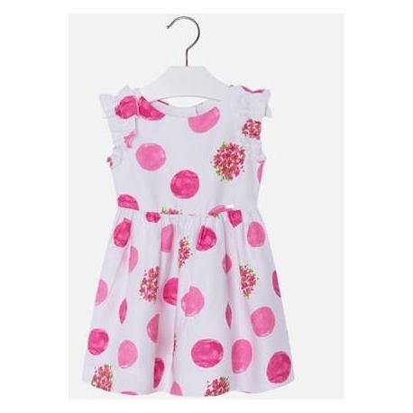 d58010d27701 MAYORAL Šaty s guľôčkami Fuchsia - BabyMarket