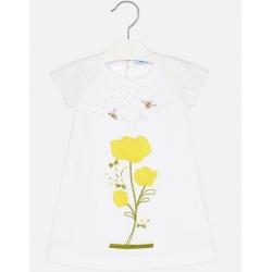 MAYORAL Šaty Flowers emboidered Amarillo
