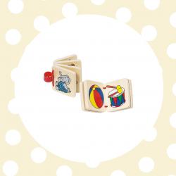 GOKI Drevená knižka so 7 obrázkami mini