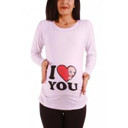 Tričko s motívom I Love You White