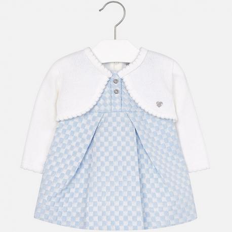 MAYORAL Šaty modré so svetríkom