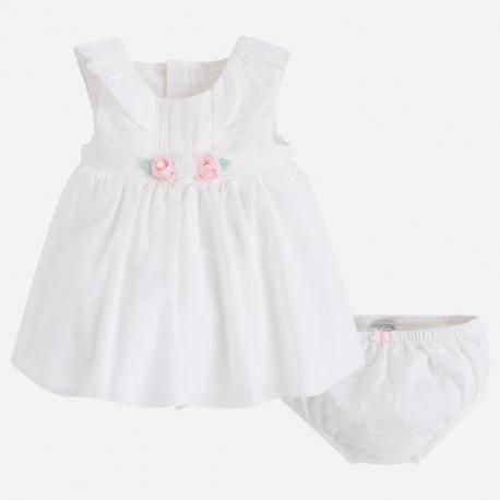 MAYORAL Šaty s ružičkami + nohavičky Crudo - BabyMarket ed6804ff86c