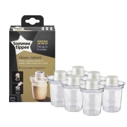 TOMMEE TIPPEE Dávkovač sušeného mlieka 6 kusov