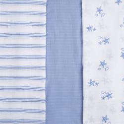 MAYORAL Set plienok Bielo modré Indigo 3ks