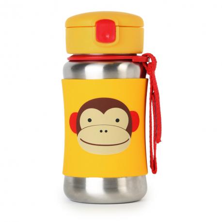 SKIP HOP Zoo Flaša na vodu nerez - Opička 12m+