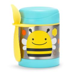 SKIP HOP Zoo Termoska na jedlo s vidličkou - Včielka 12m+