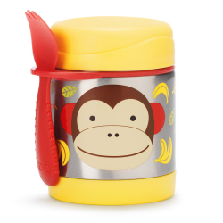 SKIP HOP Zoo Termoska na jedlo s vidličkou - Opička 12m+