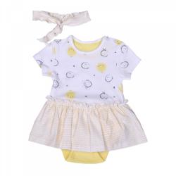 KITIKATE Šaty + čelenka Yellow