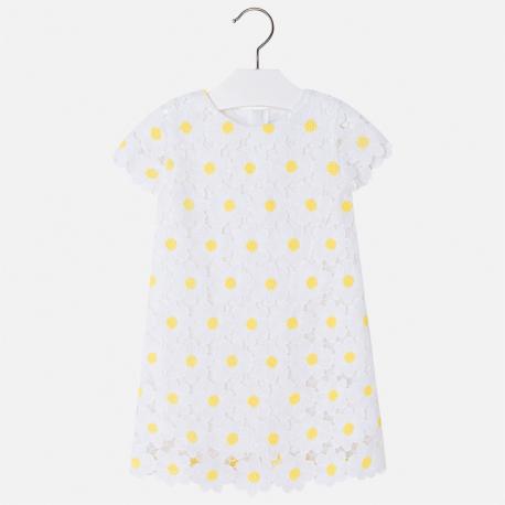 MAYORAL Šaty s kvietkami Blanco