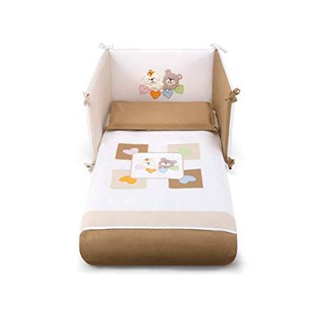 PALI Ciak Love Beige posteľná bielizeň 3-dielny set