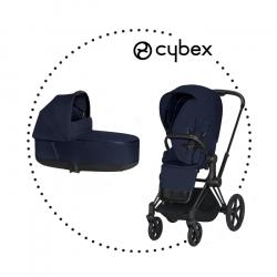 CYBEX Priam Matt Black športový kočík midnight blue lux plus, hlboká vanička midnight lux plus