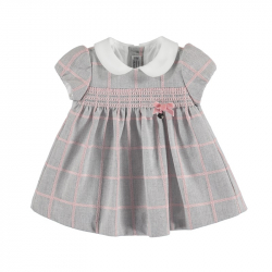 MAYORAL Šaty layette girl silver