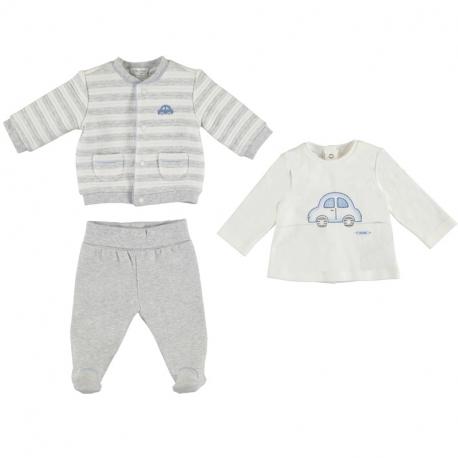 MAYORAL Mikina + polodupačky + tričko Pearl č.6-9m