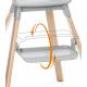 STOKKE Click jedálenská stolička sunny coral