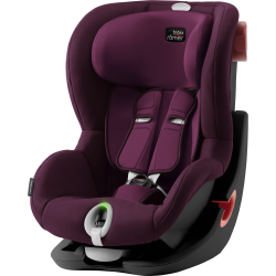 BRITAX-ROMER King II LS black autosedačka burgundy red