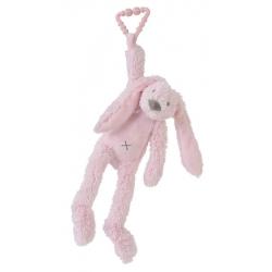 HAPPY HORSE Králik Richie s klipom ružový