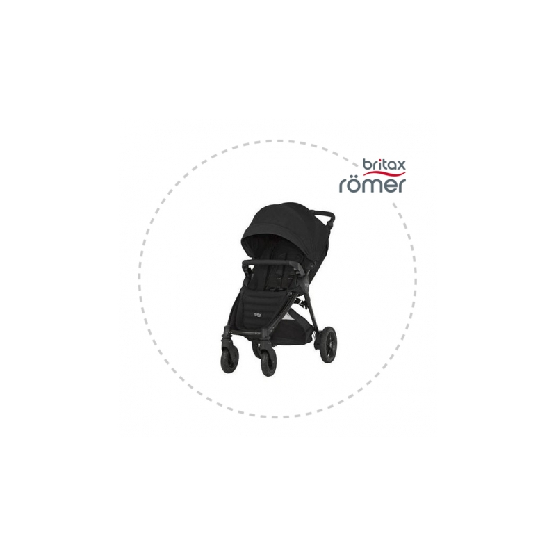 BRITAX-ROMER B-motion plus + strieška Športový kočík Cosmos Black