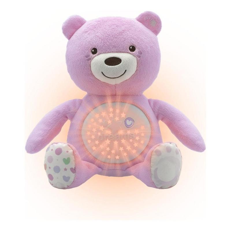 CHICCO Medvedík so svetlom a zvukom