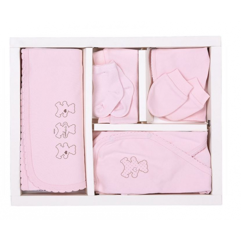 KITIKATE Novorodenecký 10-dielny set Organic Ružový