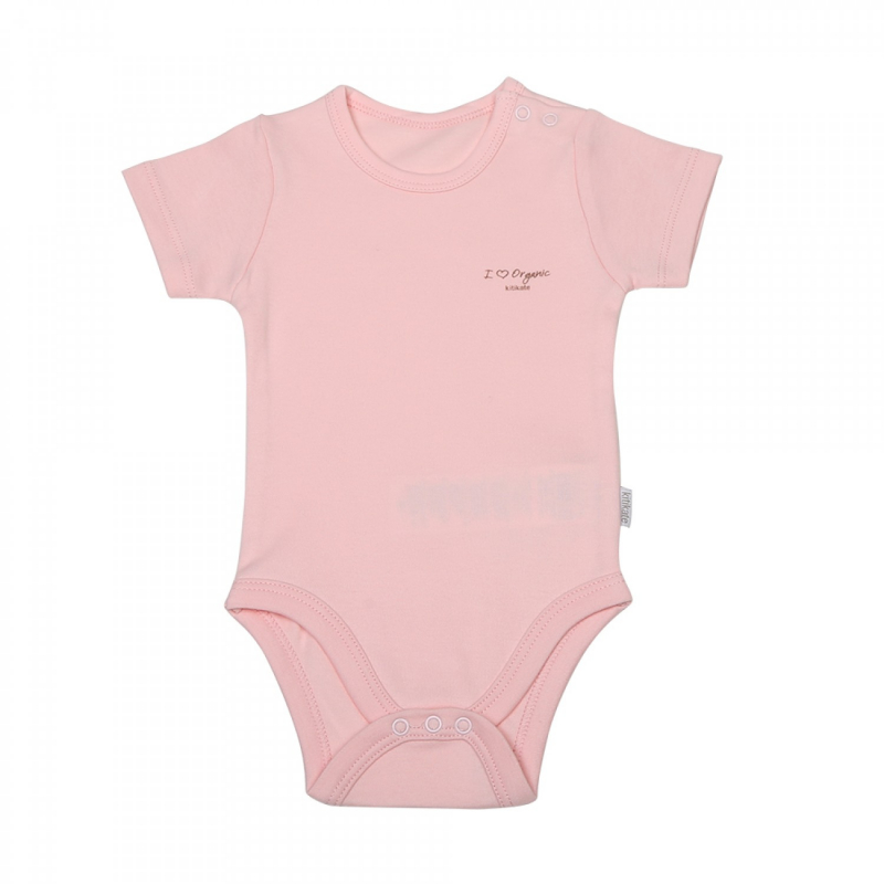 KITIKATE ORGANIC Body s krátkym rukávom Pink