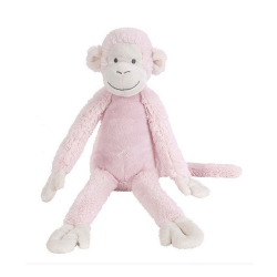 HAPPY HORSE Opička Mickey 43 cm Ružová