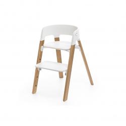 STOKKE Steps stolička OAK White + plastový sedák White