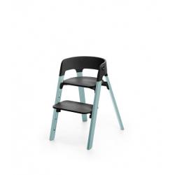 STOKKE Steps stolička Aqua Blue + plastový sedák Black