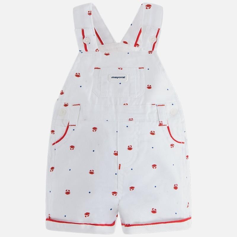 MAYORAL Chlapčenské nohavice červená farba 4-6m