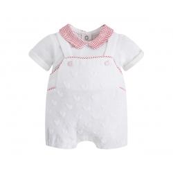 MAYORAL Nohavice krátke na traky spolu s tričkom Macchiato č.1-2m
