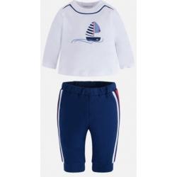 MAYORAL tepláky + tričko Azul sport 4-6m
