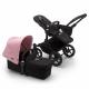BUGABOO Donkey 3 Mono 2. kombinácia Podvozok BLACK poťah športového sedadla, hlboká vanička BLACK strieška SOFT PINK