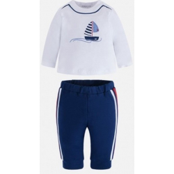 MAYORAL tepláky + tričko Azul sport 6-9m