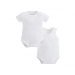 MAYORAL Body detské 2ks, Biele 6-9m
