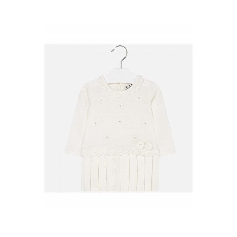 MAYORAL Šaty krémové s kvietkami č.6m
