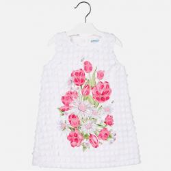 MAYORAL Šaty s ružou č.104