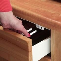 CLIPPASAFE Samolepiace zámky na šuflíky 2 ks