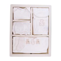 KITIKATE Novorodenecký 10-dielny set Organic Ecru