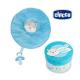 CHICCO Spinkáčik s držiakom na cumlík - Modrý