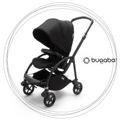 BUGABOO Bee 6 Podvozok BLACK poťah športového sedadla BLACK strieška BLACK