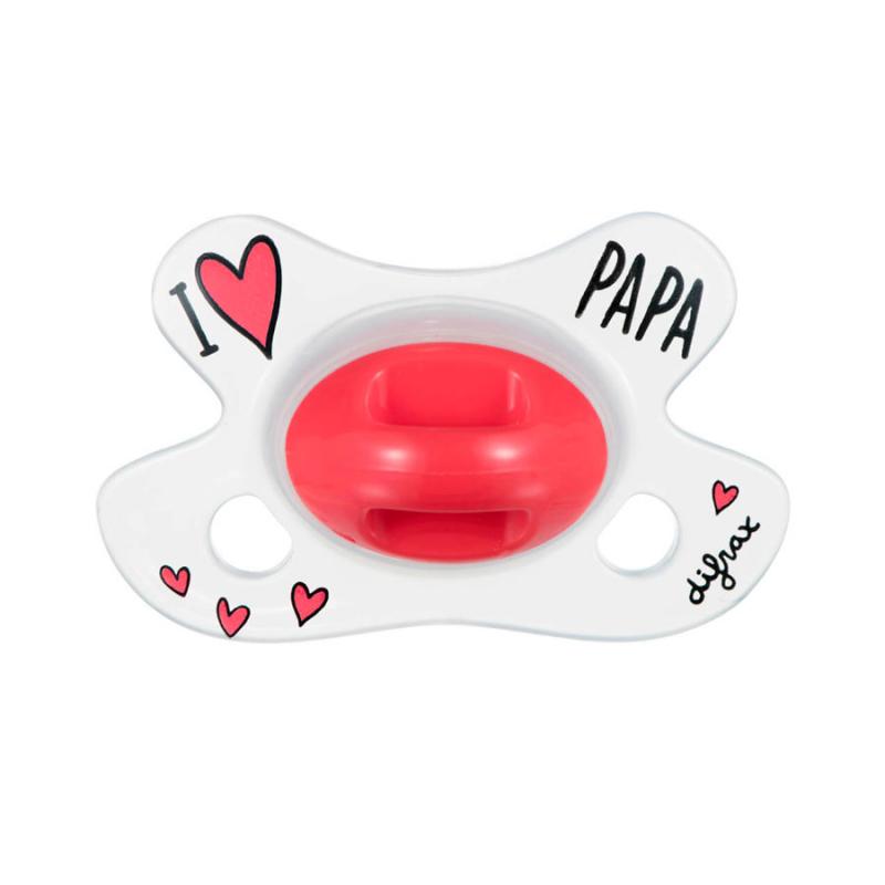 DIFRAX Cumlík Natural I LOVE PAPA 0-6 m