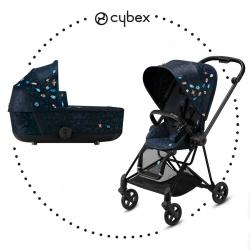 CYBEX Mios Matt Black športový kočík, hlboká vanička lux - Jewels of Nature