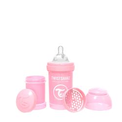 TWISTSHAKE Dojčenská fľaša Anti-Colic 180ml (cuml.S) - Pastelovo ružová