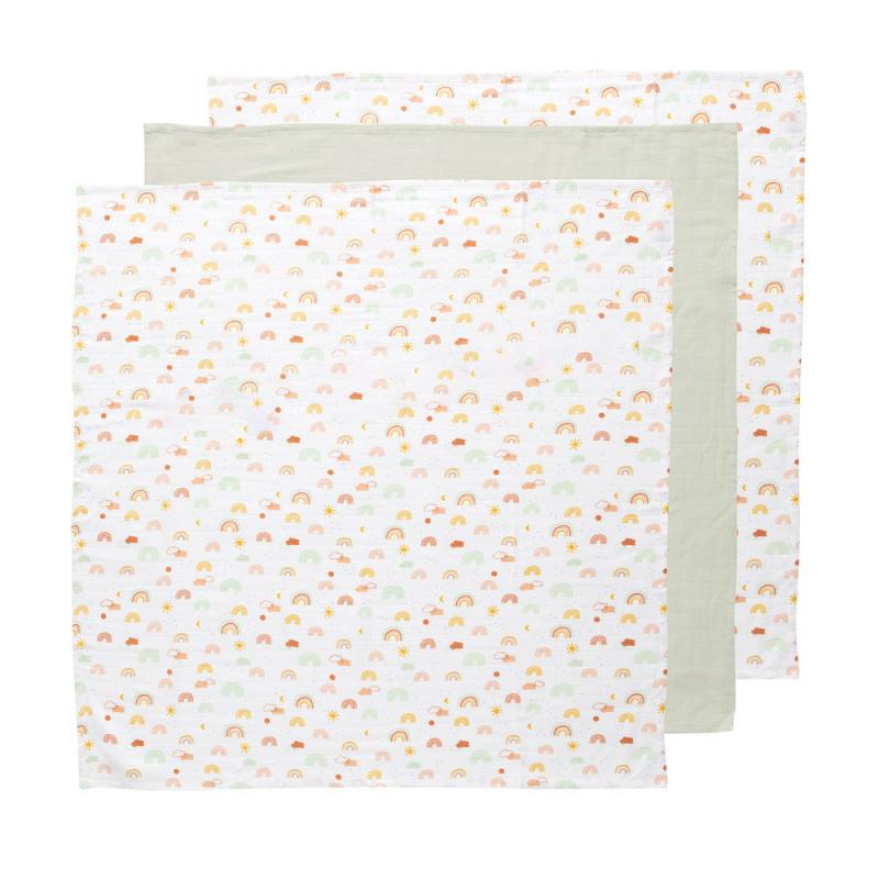 BÉBÉ JOU Bambusová mušelínová plienka 70x70, 3 ks